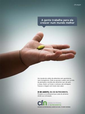 Fotografia de Publicidade para Campanha do Conselho Federal de Nutricionistas
