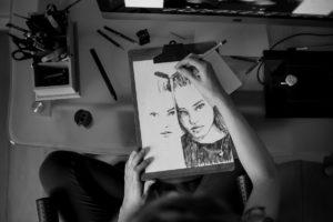 Retrato da artista Alexandra Calisto